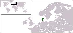 デンマークの位置